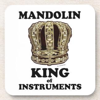 Rey de la mandolina de instrumentos posavasos de bebidas