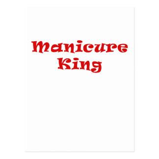 Rey de la manicura tarjeta postal