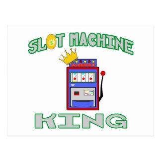 Rey de la máquina tragaperras postal