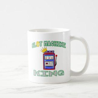 Rey de la máquina tragaperras taza básica blanca
