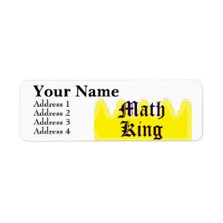 Rey de la matemáticas etiqueta de remitente
