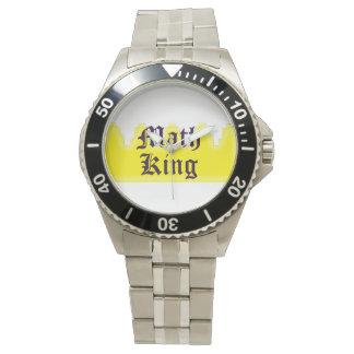 Rey de la matemáticas reloj de mano