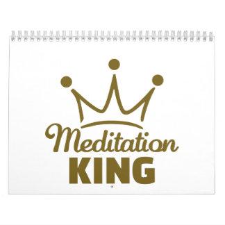 Rey de la meditación calendarios de pared