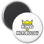 Rey de la microbiología imanes de nevera