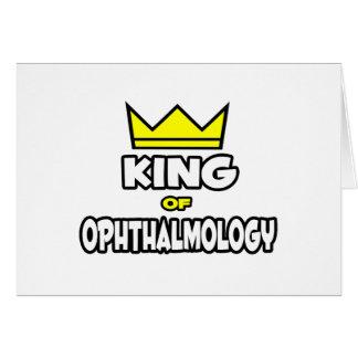 Rey de la oftalmología tarjeta de felicitación