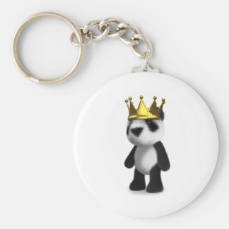 rey de la panda del bebé 3d llaveros