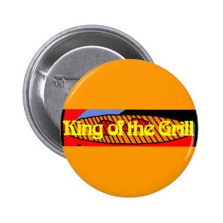 Rey de la parrilla pin redondo 5 cm