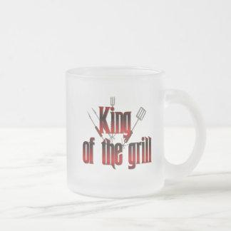 Rey de la parrilla taza de café esmerilada