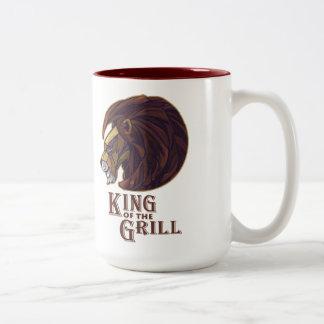Rey de la parrilla taza de dos tonos