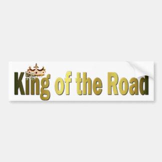 Rey de la pegatina para el parachoques del camino etiqueta de parachoque