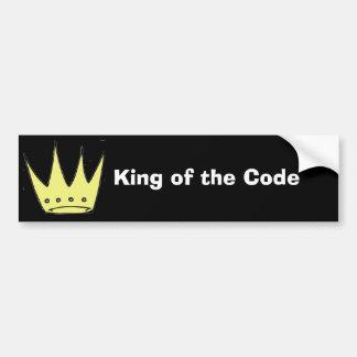Rey de la pegatina para el parachoques del código pegatina para auto
