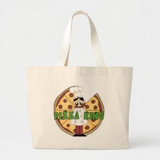Rey de la pizza bolsa lienzo