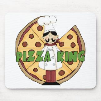 Rey de la pizza tapetes de ratón