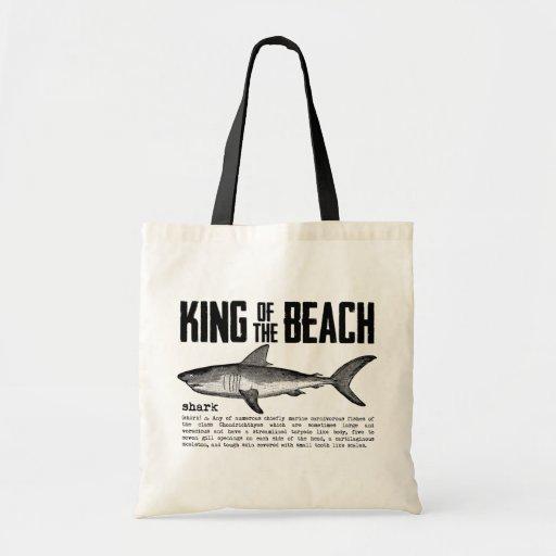 Rey de la playa del tiburón del vintage bolsa tela barata