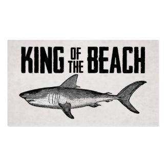 Rey de la playa del tiburón del vintage tarjetas de visita