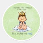 Rey de la princesa - pegatinas de hermano mayor