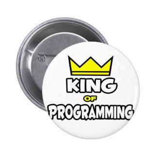 Rey de la programación pin redondo 5 cm
