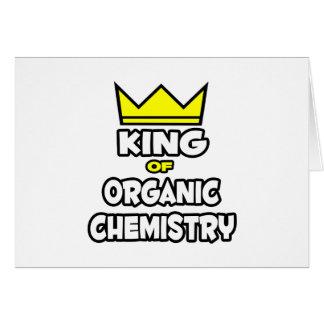 Rey de la química orgánica tarjeta de felicitación