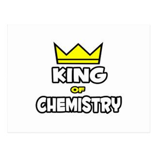 Rey de la química tarjeta postal