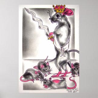 Rey de la rata del ballet del cascanueces póster