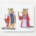 Rey de la rata y reina de los corazones Mousepad Alfombrilla De Ratones