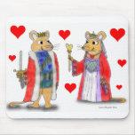 Rey de la rata y reina de los corazones Mousepad Tapete De Raton