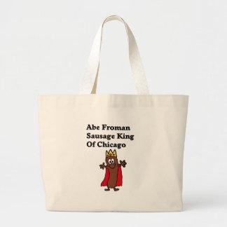 Rey de la salchicha de Abe Froman de Chicago Bolsa Tela Grande