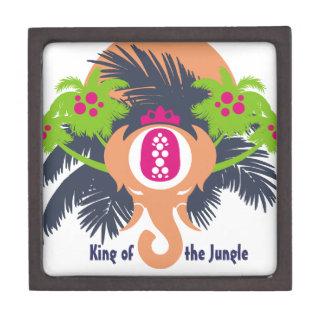 Rey de la selva cajas de recuerdo de calidad