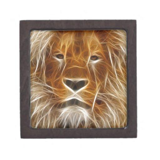 Rey de la selva electrificada cajas de joyas de calidad
