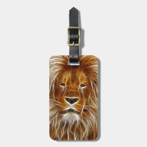 Rey de la selva electrificada etiqueta para maleta