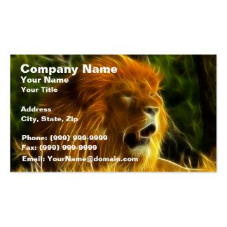 Rey de la selva tarjetas de visita