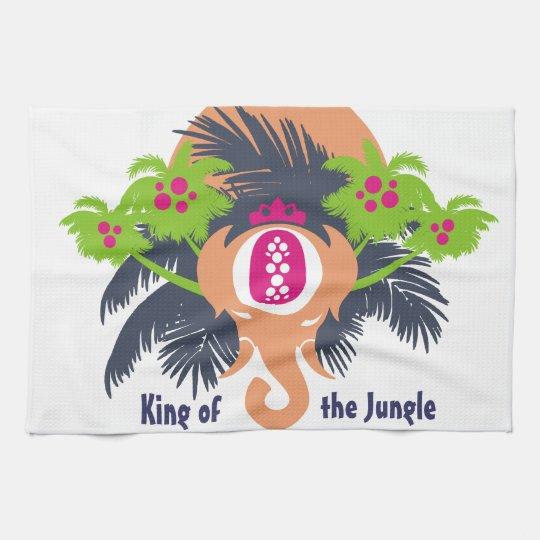 Rey de la selva toalla de mano