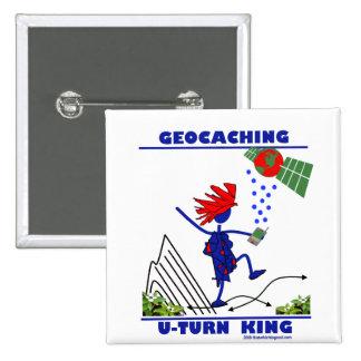 Rey de la vuelta de Geocaching U Pins