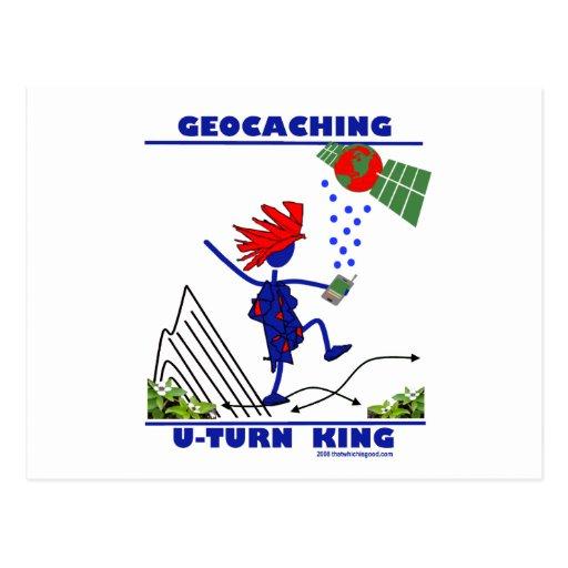 Rey de la vuelta de Geocaching U Postales