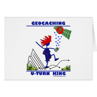 Rey de la vuelta de Geocaching U Tarjeta De Felicitación
