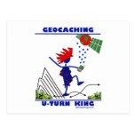 Rey de la vuelta de Geocaching U Tarjeta Postal
