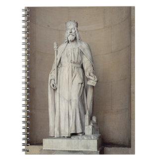 Rey de las cartas francas 1836 de Dagobert 605-3 Libros De Apuntes Con Espiral