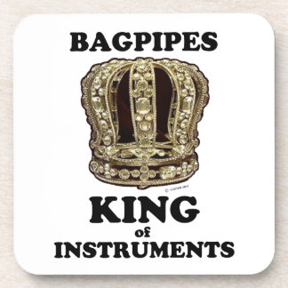 Rey de las gaitas de instrumentos posavasos