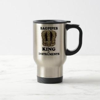 Rey de las gaitas de instrumentos tazas de café