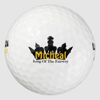 Rey de las pelotas de golf de encargo de la corona pack de pelotas de golf