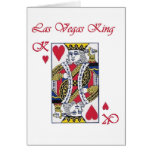 Rey de Las Vegas de la tarjeta de los corazones