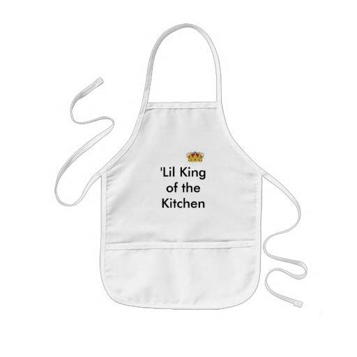 'Rey de Lil de la cocina Delantal Infantil
