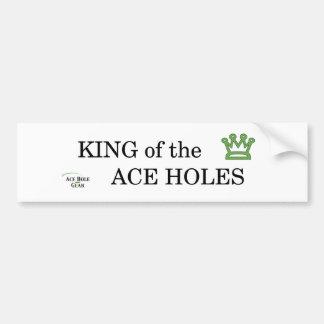 Rey de los agujeros del as etiqueta de parachoque