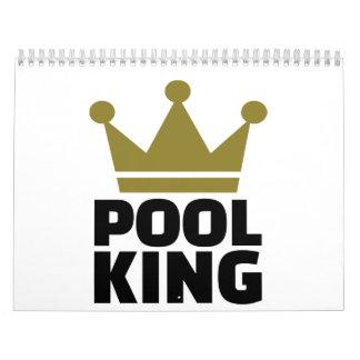 Rey de los billares de la piscina calendarios de pared