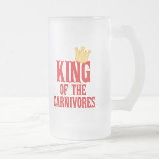 Rey de los carnívoros jarra de cerveza esmerilada