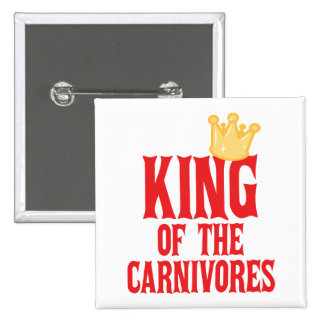Rey de los carnívoros pin cuadrada 5 cm