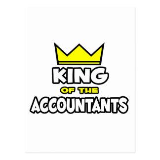 Rey de los contables tarjeta postal