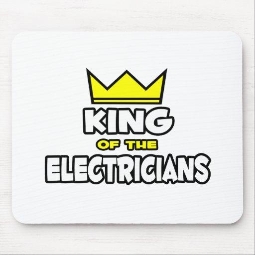 Rey de los electricistas alfombrilla de ratones
