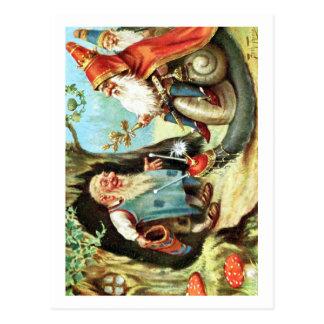 Rey de los gnomos tarjetas postales