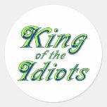 Rey de los idiotas etiquetas